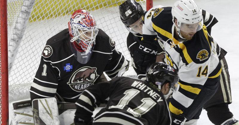 Bruins Score Five Straight to Drop Bears, 6-2