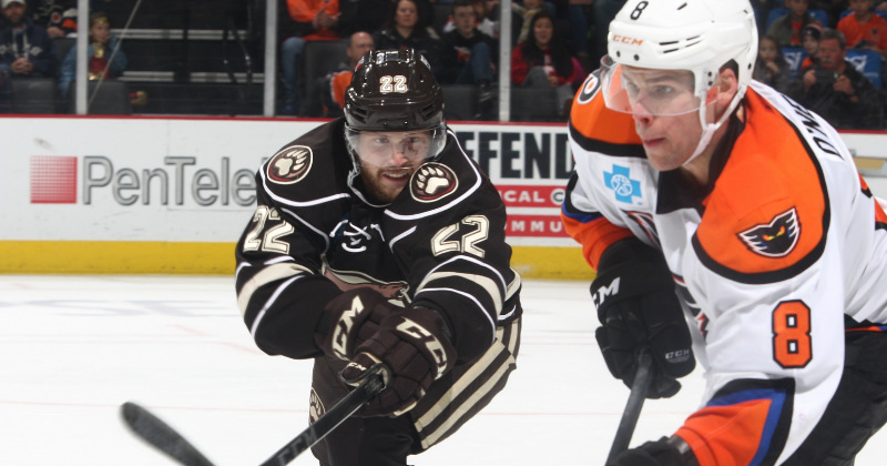 Bears Suffer 7-2 Loss to Phantoms Friday
