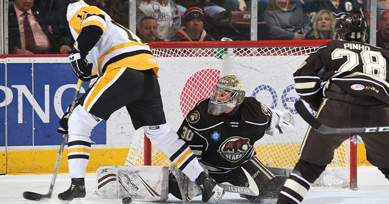 Bears Rally Twice in Third Period to Beat Pens