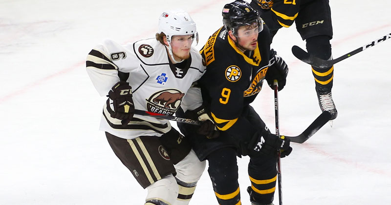 Johansen Scores Late, Bears Fall in Shootout to P-Bruins