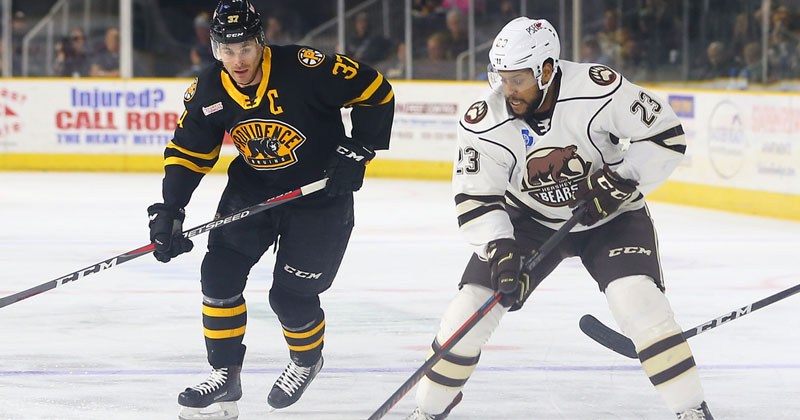 Bears Fall 4-3 in Overtime in Providence
