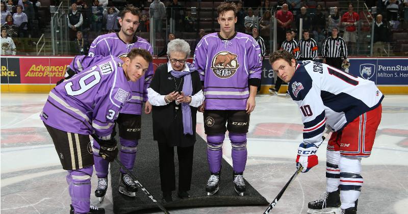 Milner Shines, Bears Win on Hockey Fights Cancer Night