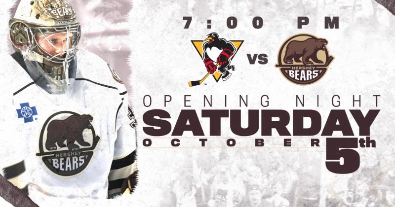 Bears Home Opener Set for Oct. 5 vs. Baby Pens