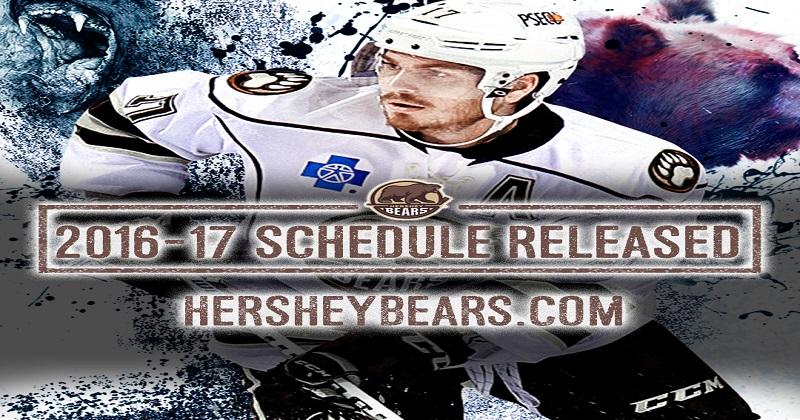 Hershey Bears Announce 2016-2017 Schedule