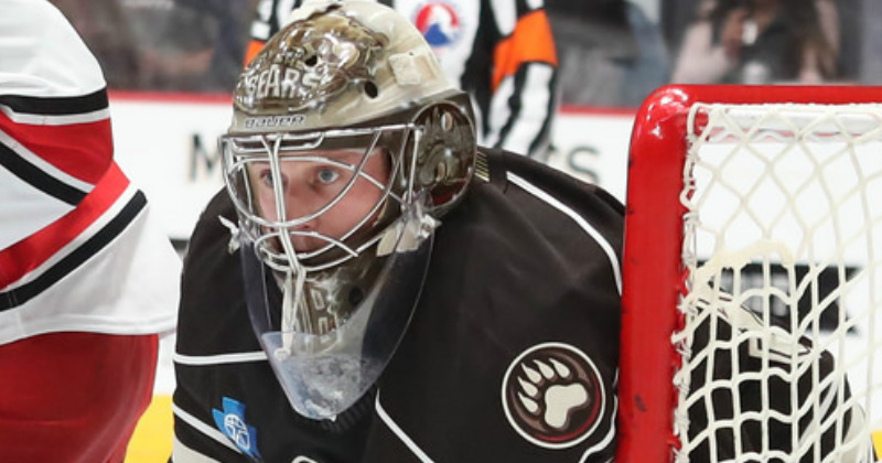 Vanecek Named CCM/AHL Player of the Week