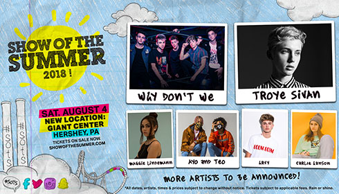 <span>Show of the Summer: Why Don&rsquo;t We, Troye Sivan &amp; More</span>
