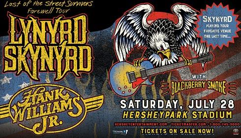 <span>Lynyrd Skynyrd &amp;&nbsp;Hank Williams Jr.</span>