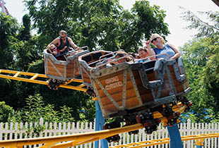 The Cocoa Cruiser℠ in action at Hersheypark