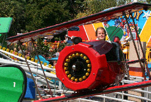 The Red Baron in action at Hersheypark