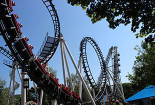 The Sidewinder℠ in action at Hersheypark