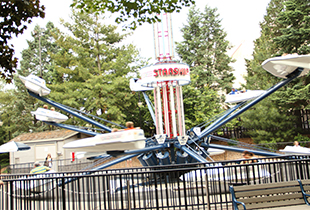The Starship America in action at Hersheypark