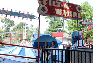 The Tilt-A-Whirl in action at Hersheypark