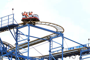 The Wild Mouse in action at Hersheypark