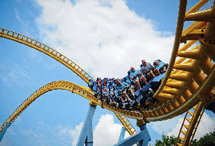 The Skyrush® in action at Hersheypark
