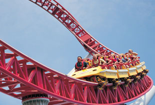 The Storm Runner® in action at Hersheypark