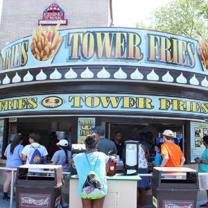 Tower Fries inside Hersheypark