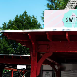 The Swirl icecream stand at Hersheypark