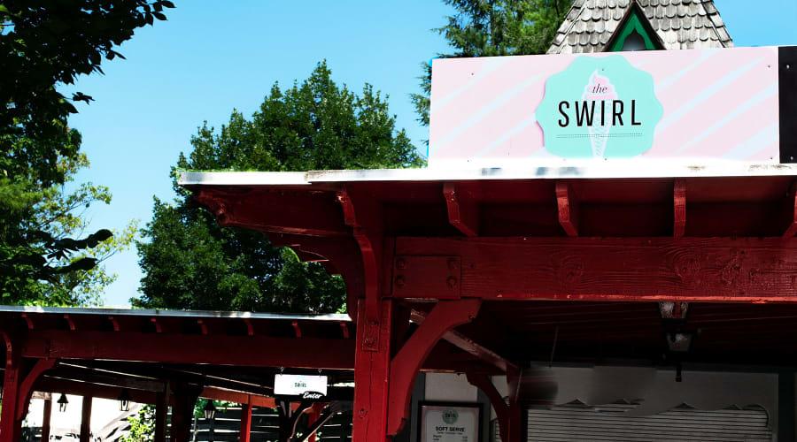The Swirl icecream stand at Hersheypark