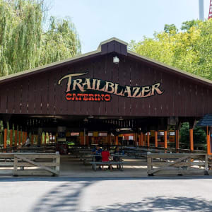 Trailblazer Catering area inside Hersheypark