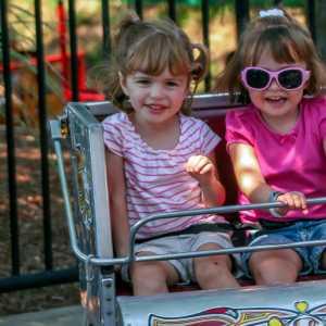 the mini scrambler ride at Hersheypark