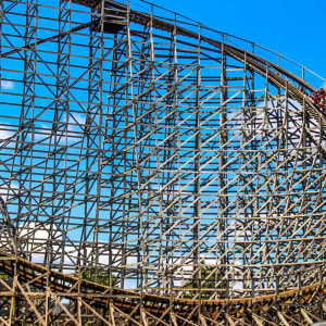 wildcat wooden roller coaster