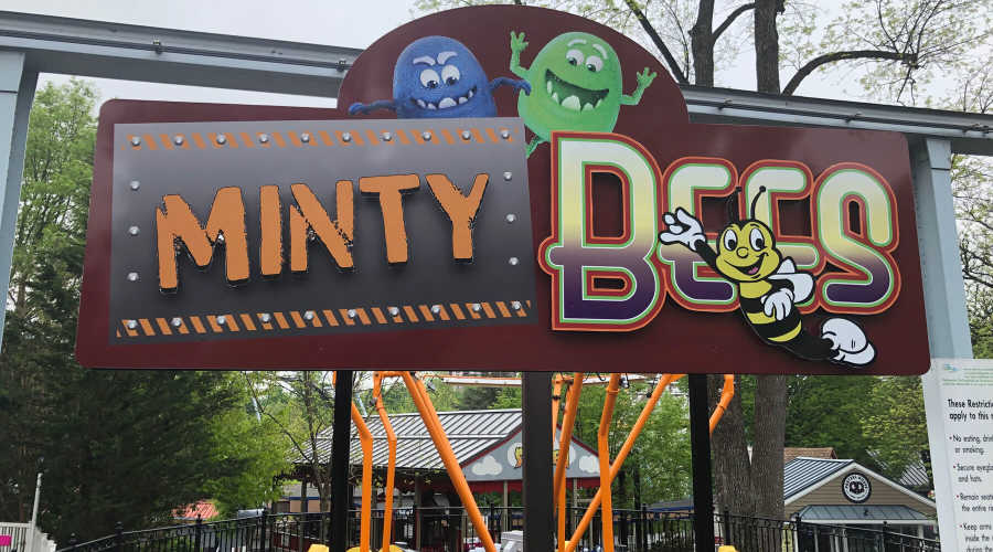 Minty Bees ride at Hersheypark