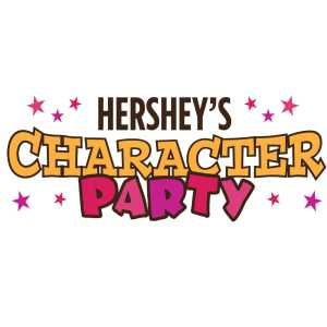 Hershey's character party logo
